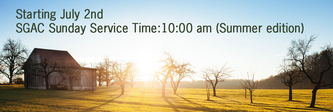 Summer Service Times
